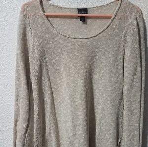 Eileen Fisher linen mesh pullover